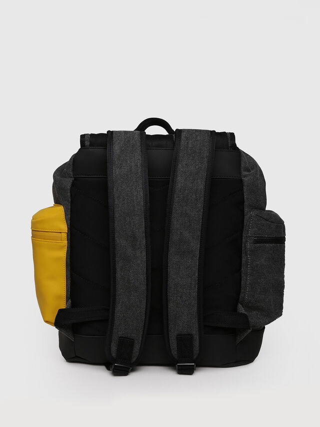 Diesel - M-CAGE BACK, Gray/Black - Backpacks - Image 2