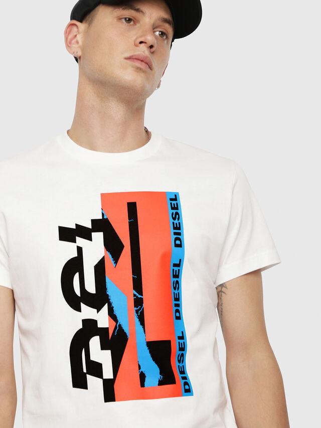 Diesel - T-DIEGO-YA, White - T-Shirts - Image 3