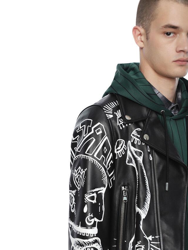 Diesel - LORAGRAPH, Black - Leather jackets - Image 5