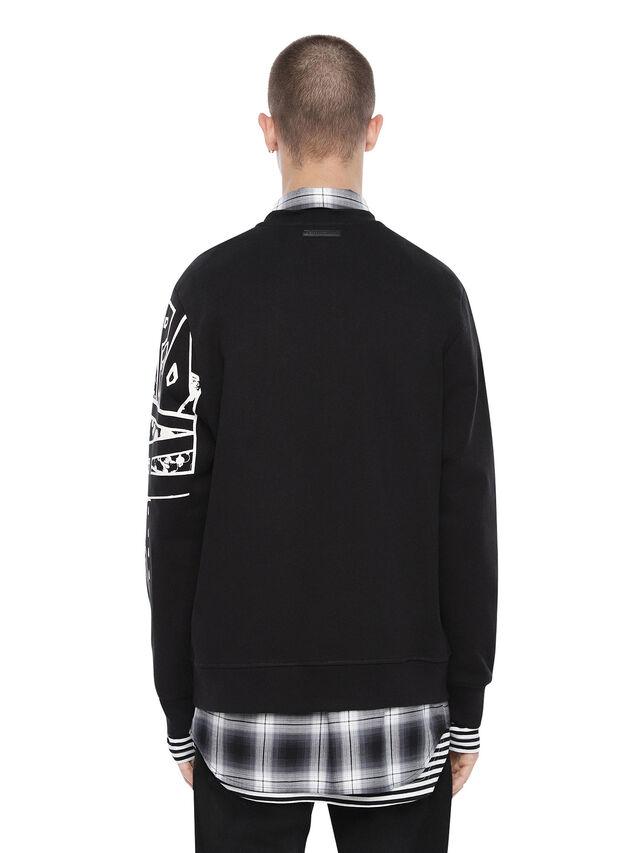 Diesel - SNEILB-GRAFFITI, Black - Sweatshirts - Image 2