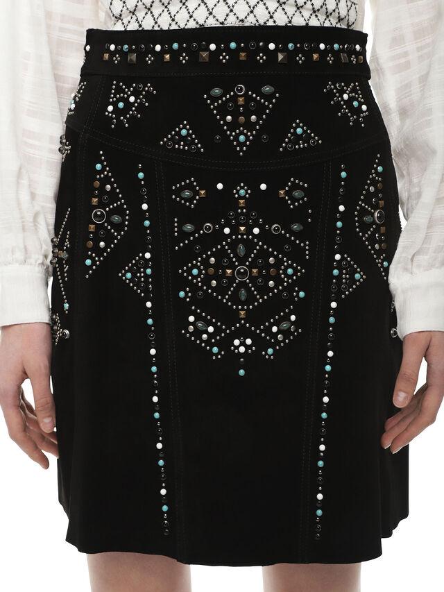Diesel - OBORC, 900 - Leather skirts - Image 4