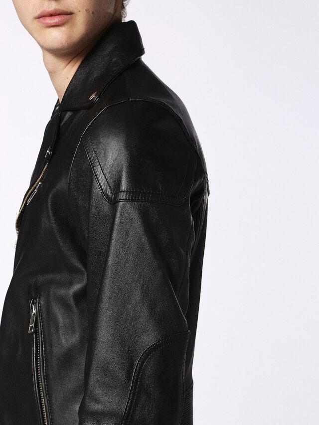 Diesel - L-KRAMPS, Black - Leather jackets - Image 6