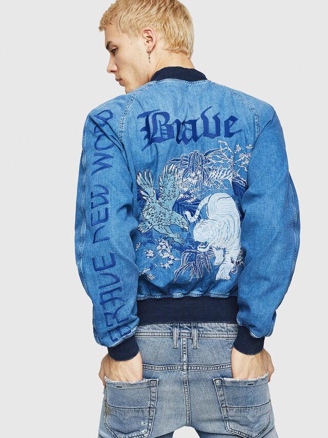 Diesel - D-BAK, Blue Jeans - Denim Jackets - Image 2