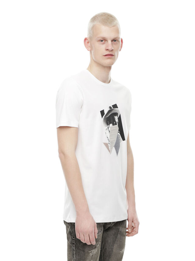 Diesel - TY-PEZZABOY1, White - T-Shirts - Image 3
