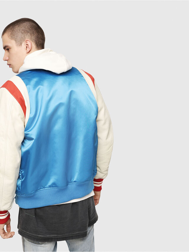 Diesel - L-HARU, White/Red/Blue - Leather jackets - Image 2