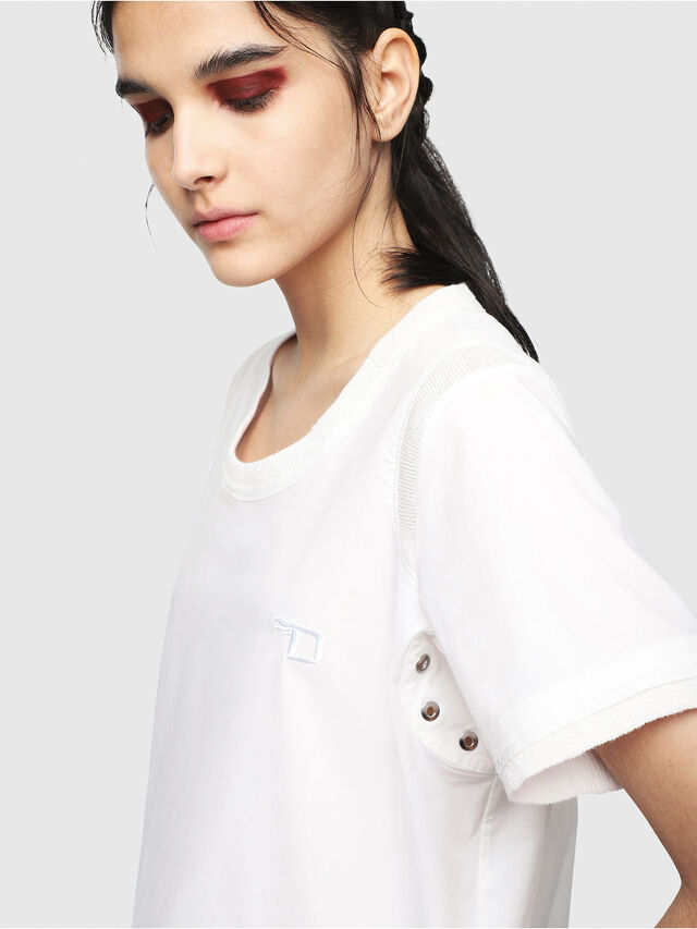Diesel - T-SELLY, White - T-Shirts - Image 3