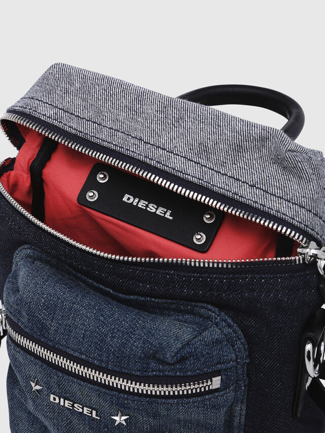 Diesel - F-DESTAR BACKPACK, Blue - Backpacks - Image 3
