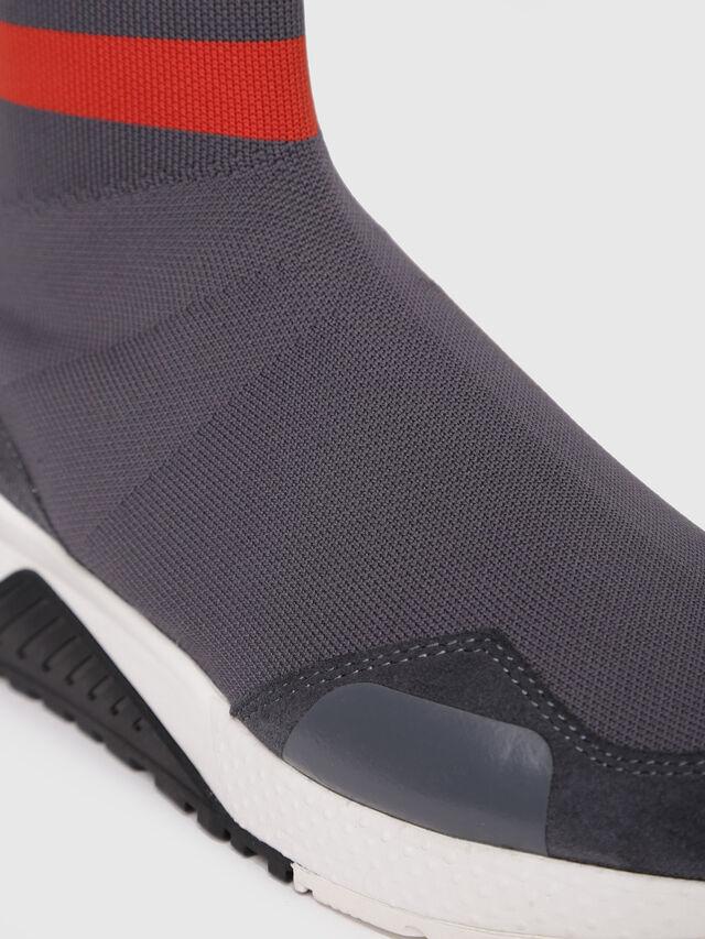 Diesel - S-KB SOCK, Grey/Red - Sneakers - Image 4