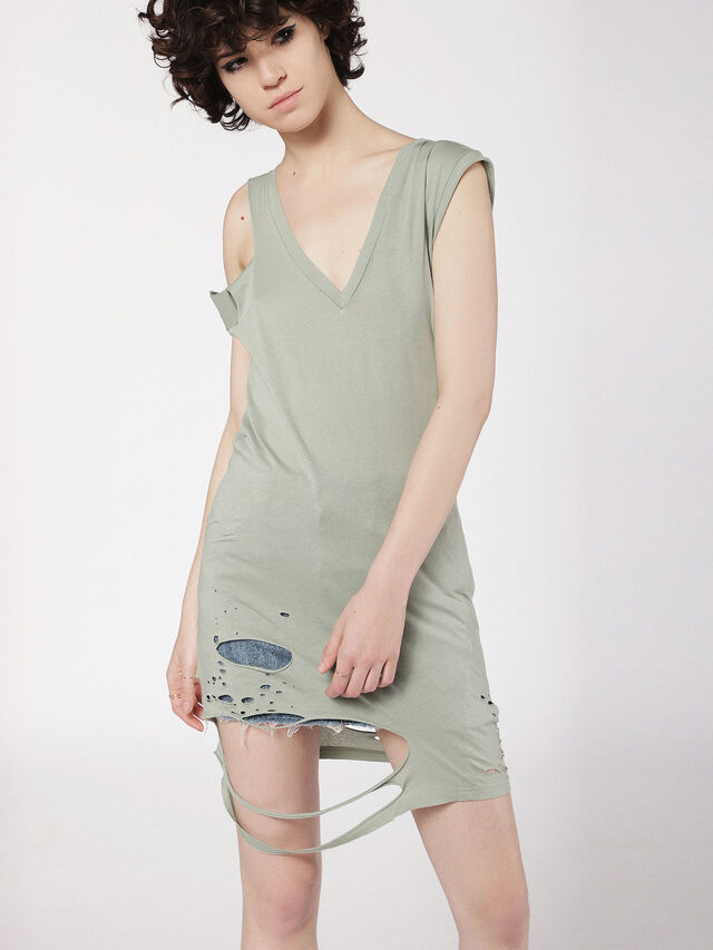 Diesel - T-SHANE, Olive Green - Tops - Image 1