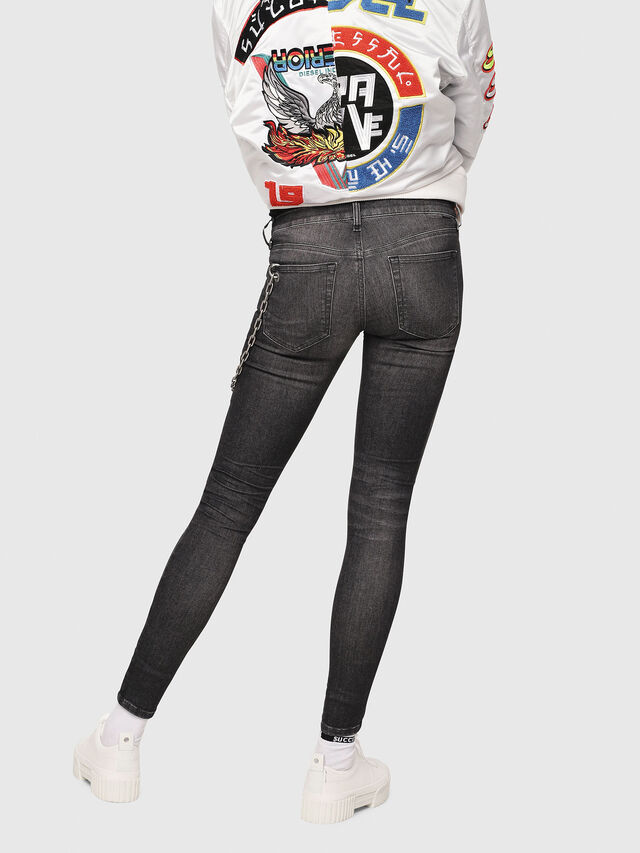 Diesel - Slandy Low 088AS, Black/Dark Grey - Jeans - Image 2