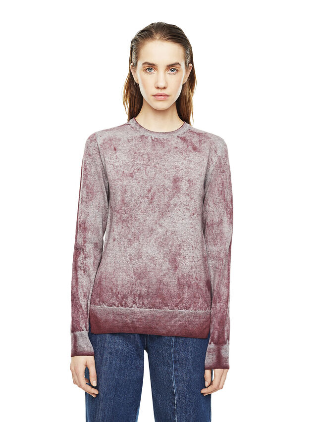 Diesel - MESULF, White/Red - Sweaters - Image 1