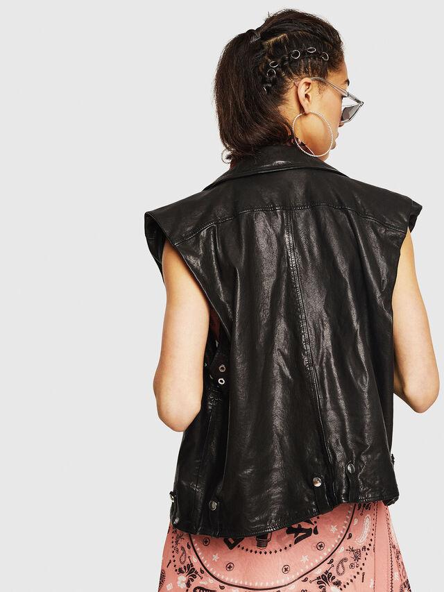 Diesel - L-DROPPET, Black - Leather jackets - Image 2