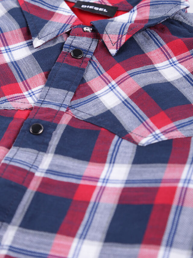 Diesel - CLANET, Blue/Red - Shirts - Image 3