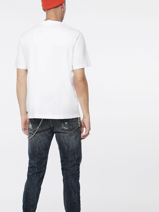 Diesel - T-JUST-XQ, White/Blue - T-Shirts - Image 2