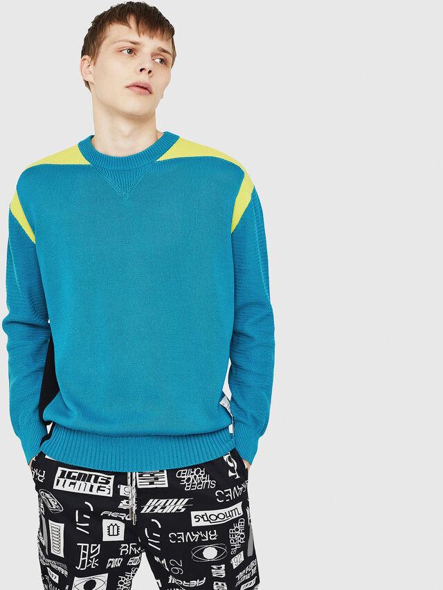 Diesel - K-MELT, Azure - Sweaters - Image 1