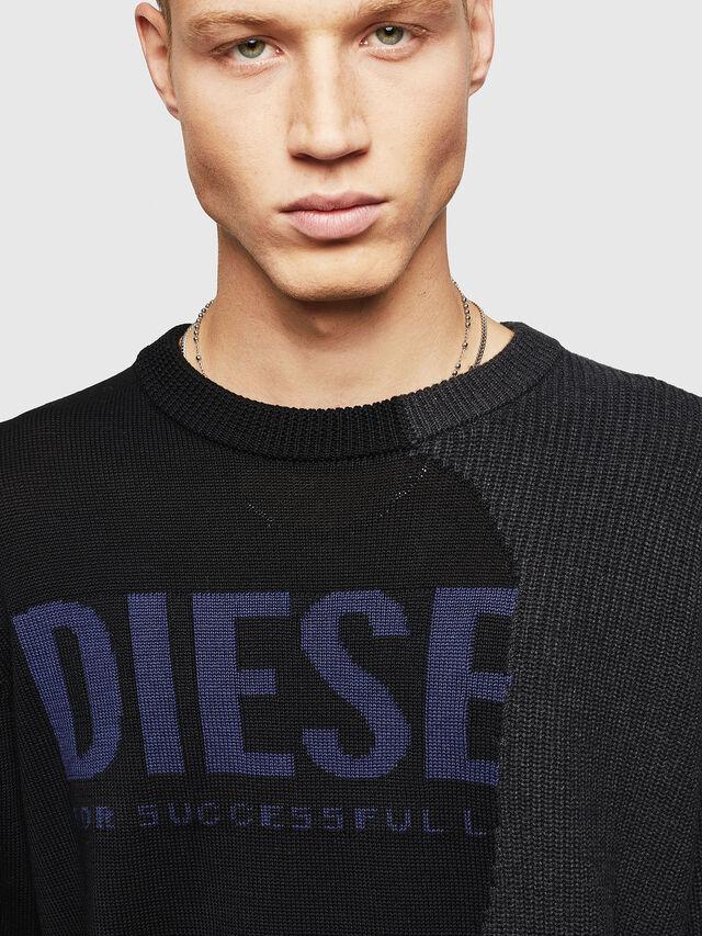 Diesel - K-HALF, Black - Sweaters - Image 3