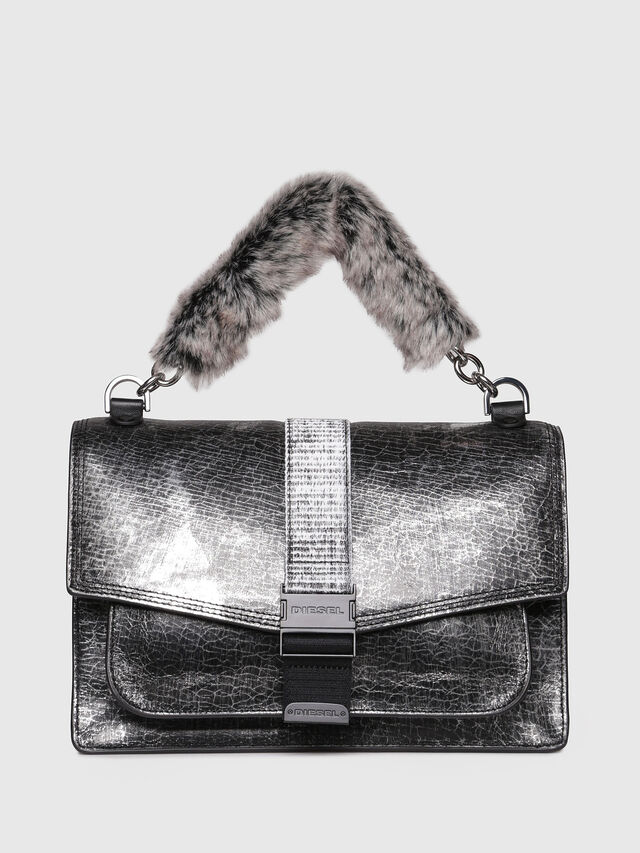 Diesel - MISS-MATCH CROSSBODY, Silver/Black - Crossbody Bags - Image 1
