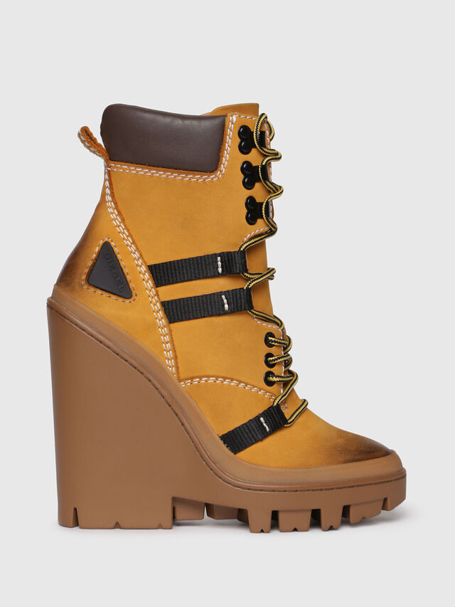 Diesel - D-VIBE MB, Yellow Ocher - Ankle Boots - Image 1