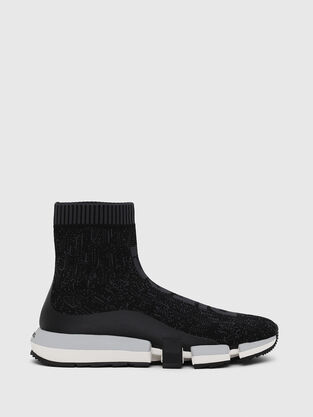 e9adcc36bfb1 H-PADOLA MID SOCK, Black - Sneakers
