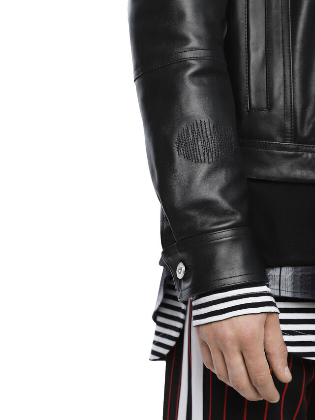 Diesel - LANPATCH, Black - Leather jackets - Image 7