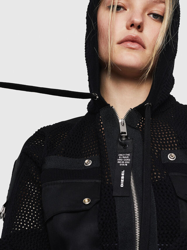 Diesel - M-MILY, Black - Sweaters - Image 3