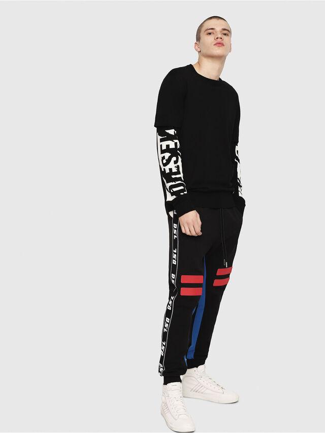 Diesel - K-BETTE, Black/White - Sweaters - Image 4