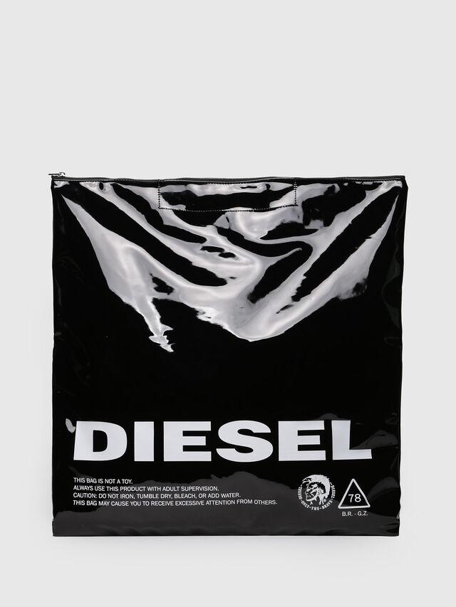 Diesel - F-LITT SHOPPER EW, Bright Black - Clutches - Image 1