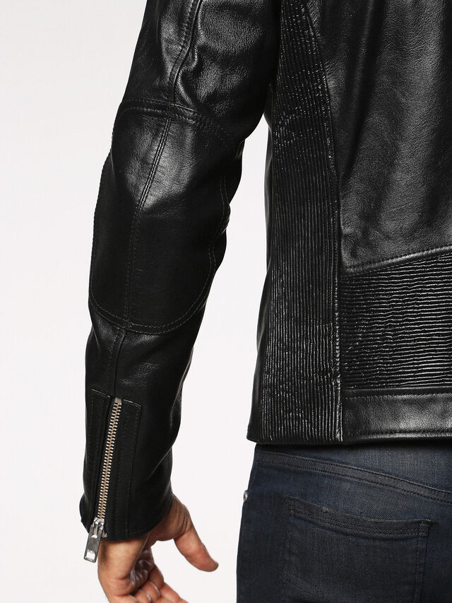 Diesel - L-RUSH, Black - Leather jackets - Image 5