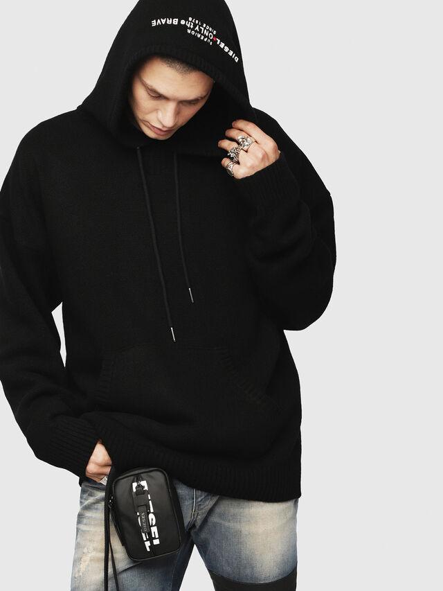 Diesel - K-NONAME, Black - Sweaters - Image 1