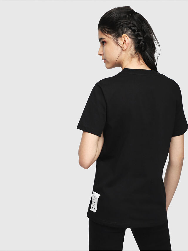 Diesel - T-SILY-WL, Black - T-Shirts - Image 2