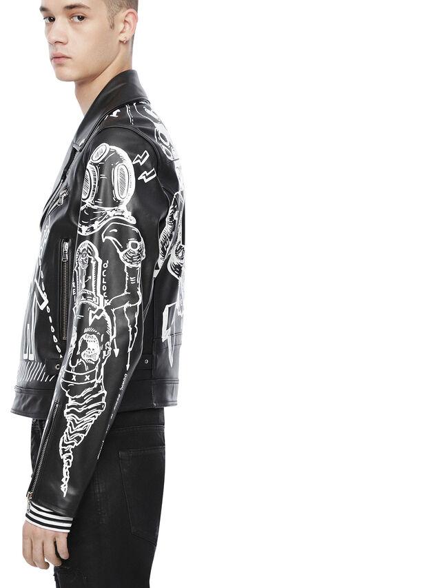 Diesel - LORAGRAPH, Black - Leather jackets - Image 3