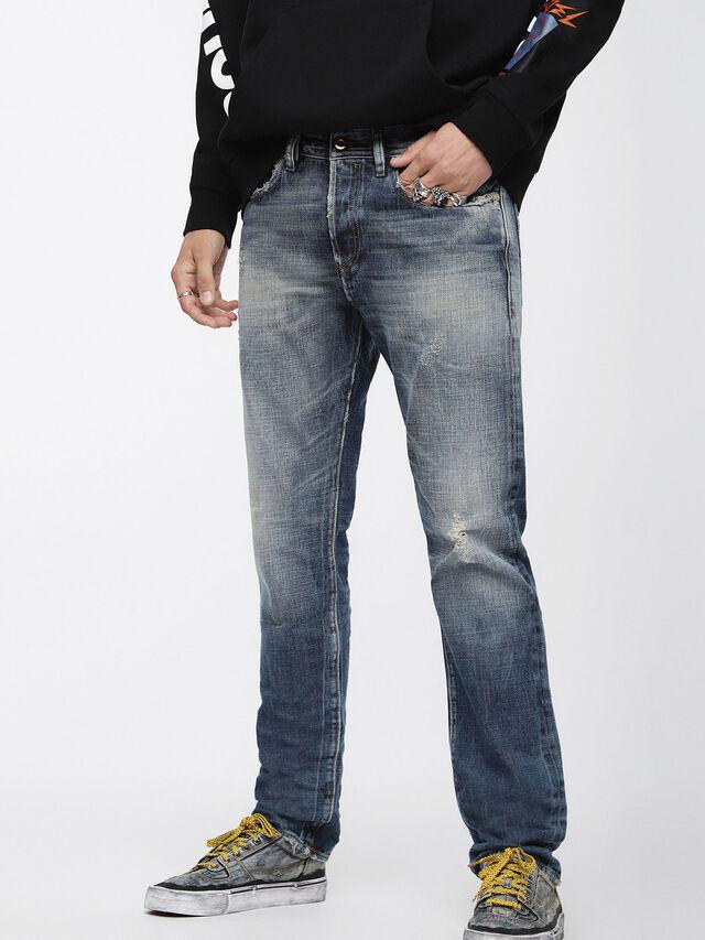 Diesel - Buster 084WN, Medium Blue - Jeans - Image 1