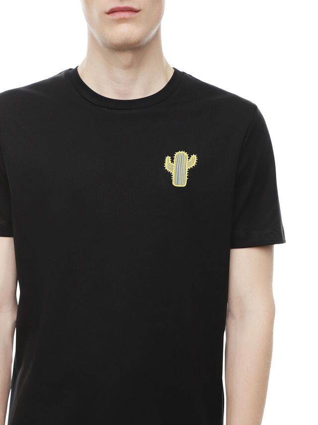 Diesel - TY-CACTUS, Black - T-Shirts - Image 4