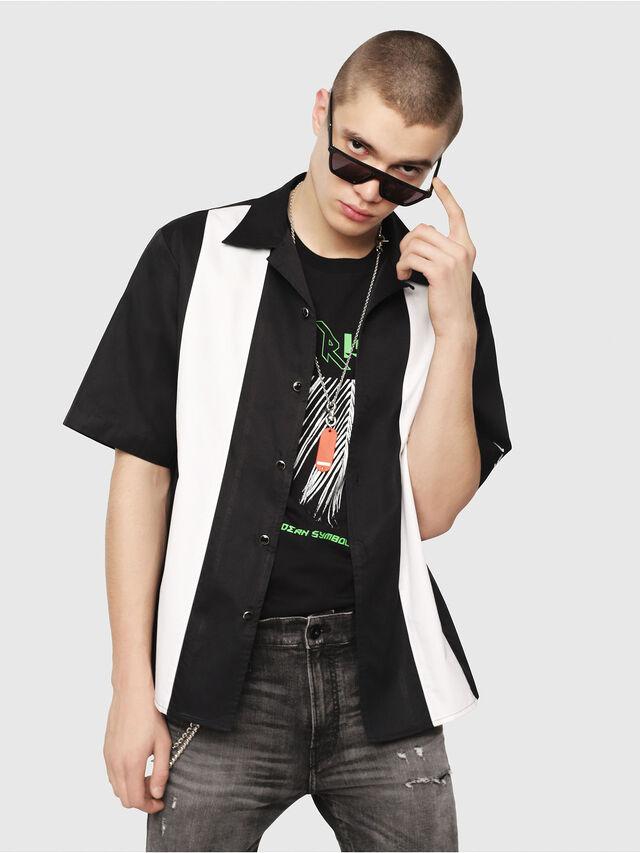 Diesel - S-KINGI, Black/White - Shirts - Image 1