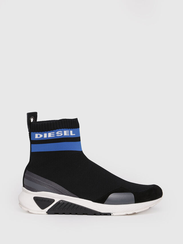 Diesel - S-KB SOCK, Black/Blue - Sneakers - Image 1