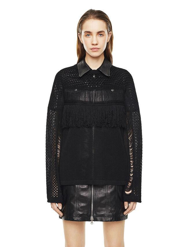Diesel - MOFRAN, Black - Sweaters - Image 1