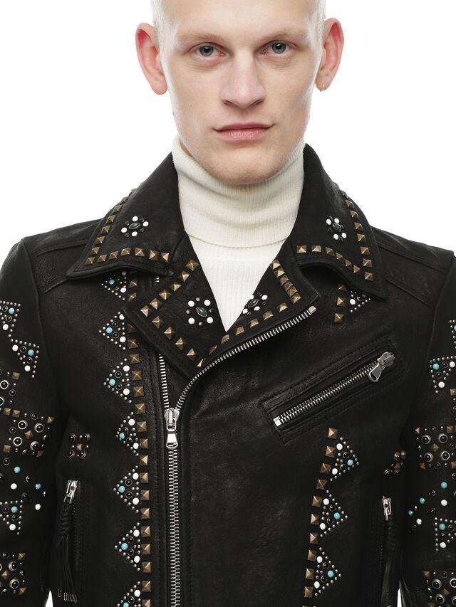 Diesel - LANDITO, Black - Leather jackets - Image 4