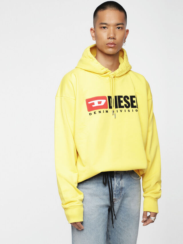 Diesel - S-DIVISION, Yellow - Sweatshirts - Image 1