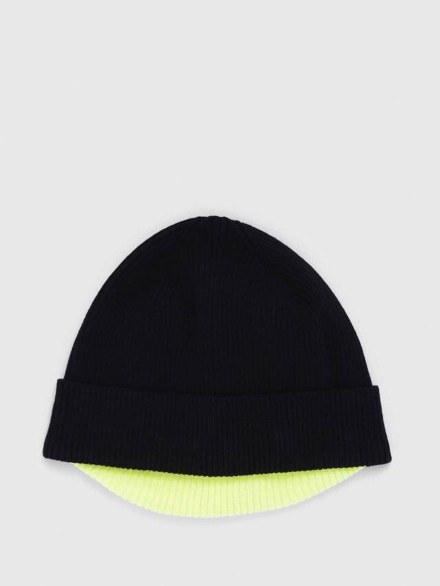 Diesel - K-DOBLY, Black/Yellow - Caps, Hats and Gloves - Image 1