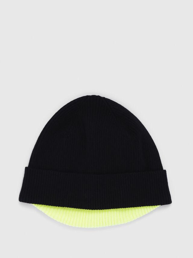 Diesel - K-DOBLY, Black/Yellow - Knit caps - Image 1