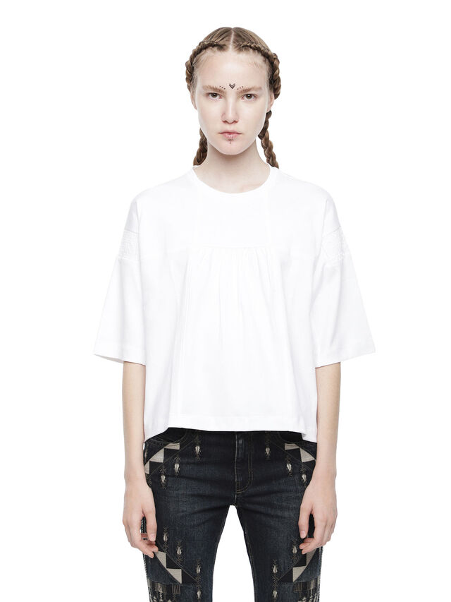Diesel - TICONY, White - Tops - Image 1