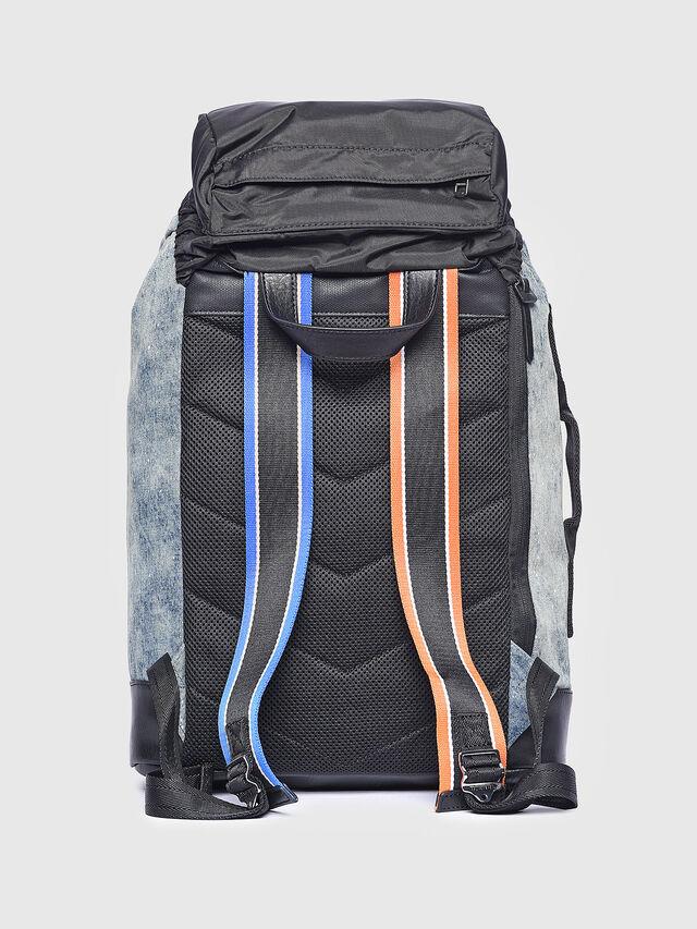 Diesel - M-XX BACK, Melange Blue - Backpacks - Image 2