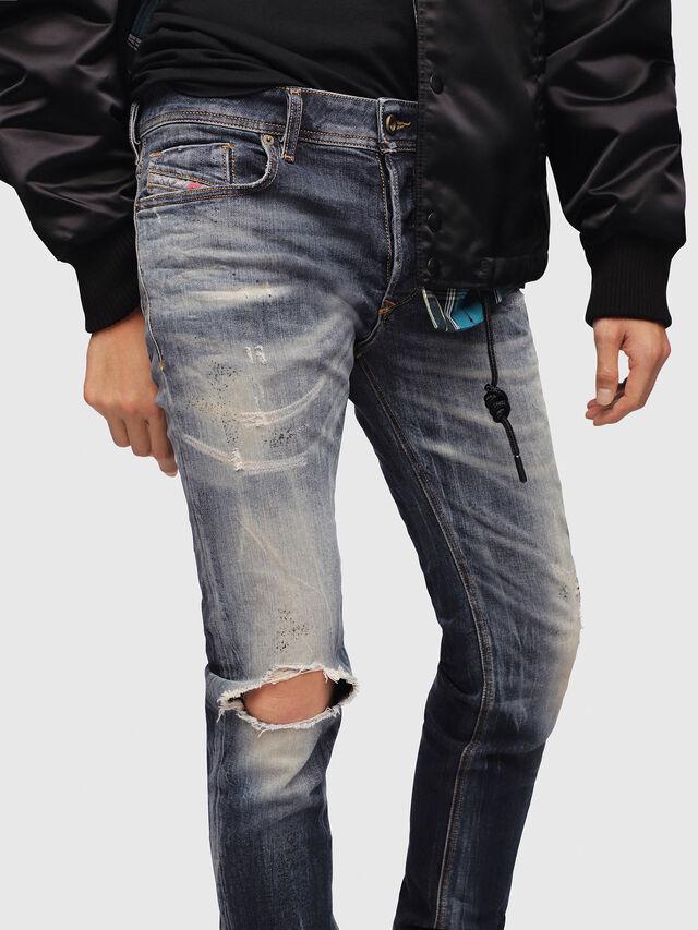 Diesel - Sleenker 069DJ, Dark Blue - Jeans - Image 3
