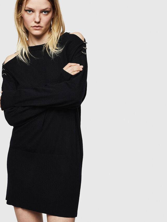 Diesel - M-MERS, Black - Sweaters - Image 1