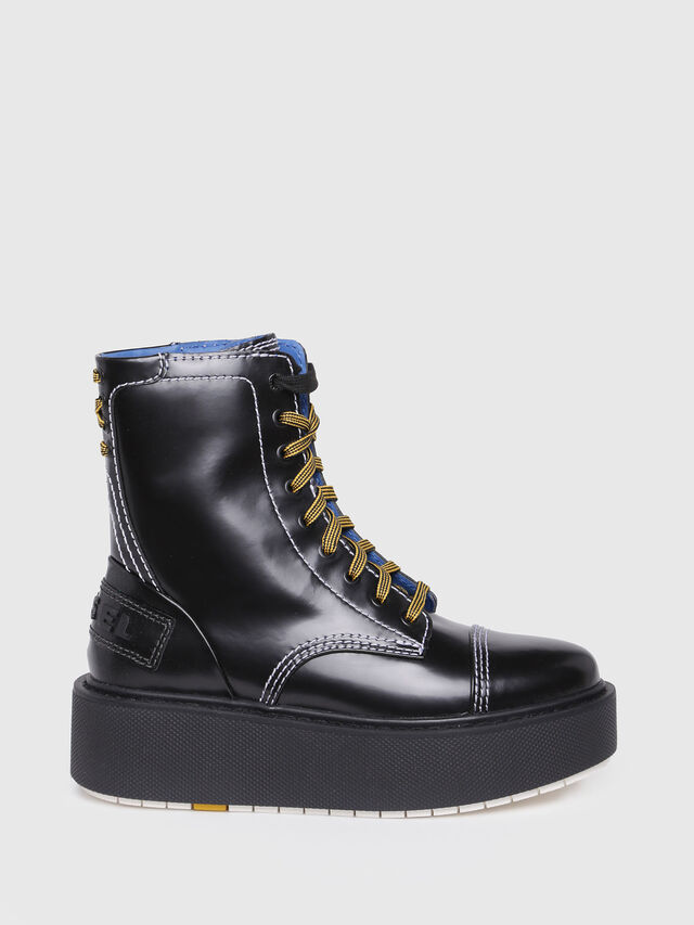Diesel - D-CAGE HB, Bright Black - Ankle Boots - Image 1