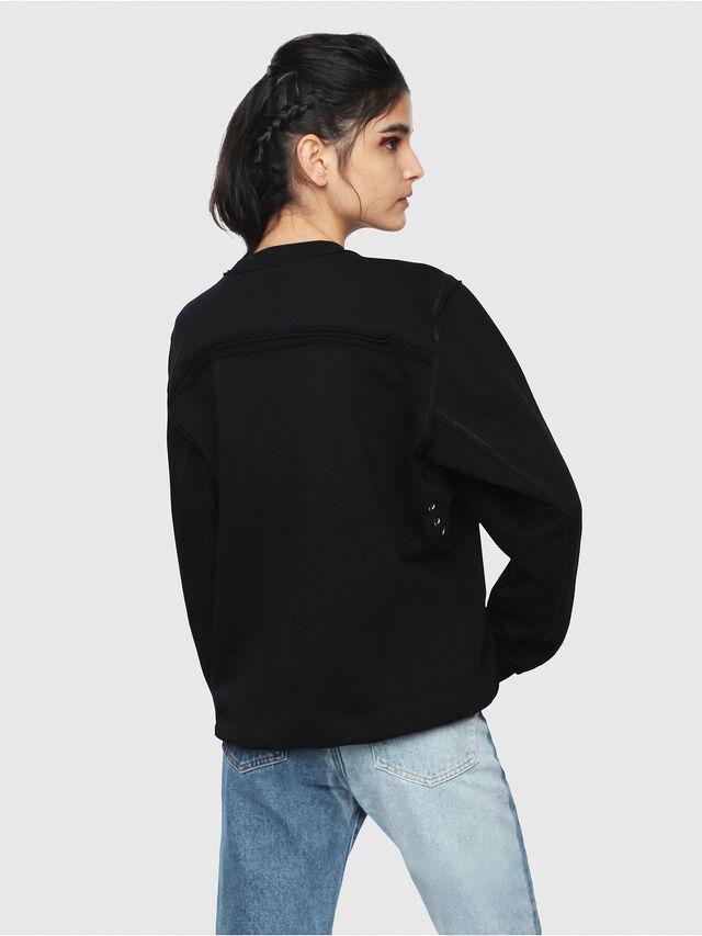 Diesel - F-LYANY-B, Black - Sweatshirts - Image 2