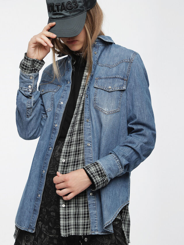 Diesel - DE-RAFFA, Blue Jeans - Denim Shirts - Image 1