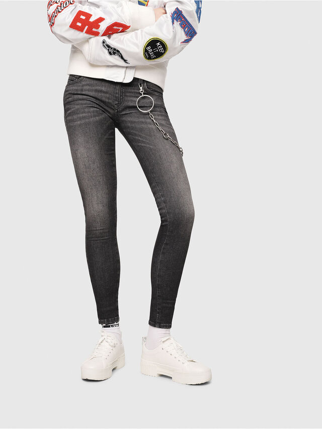 Diesel - Slandy Low 088AS, Black/Dark Grey - Jeans - Image 1