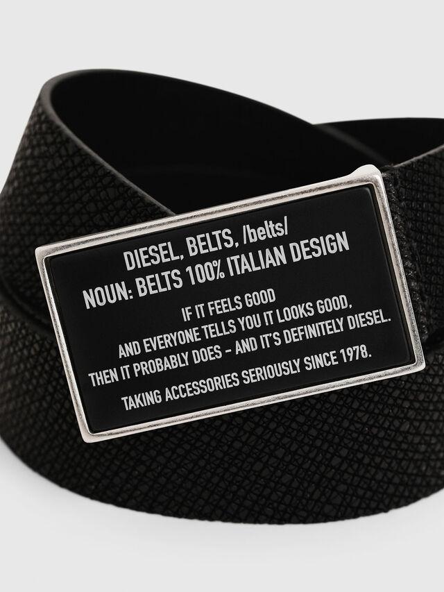 Diesel - B-LAZISE, Black - Belts - Image 2