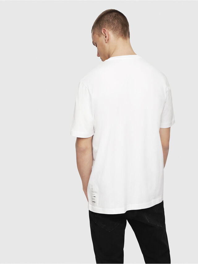 Diesel - T-JUST-YP, White - T-Shirts - Image 2